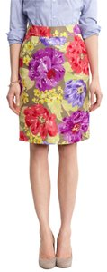 Banana Republic Floral Pencil Summer Skirt Multicolor