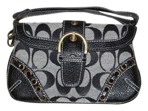 Coach Casual Wristlet in Black and gray