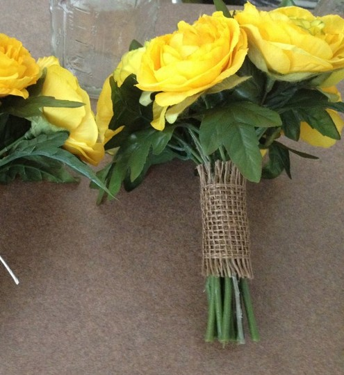 Yellow Bouquets Silk and Dried Flower Bouquets -