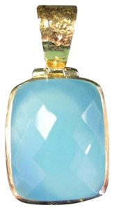 Ross-Simons Ross-Simons Blue Stone Gold over Sterling Silver Pendant