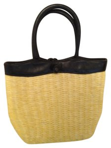 Saks Fifth Avenue Vintage Tote in Yellow and Black
