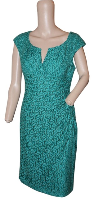 Preload https://item4.tradesy.com/images/adrianna-papell-green-and-black-short-workoffice-dress-size-6-s-5219083-0-0.jpg?width=400&height=650