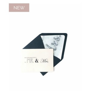 Luxe Craft Paper Co. Mr & Mrs. Card W/ Envelope Liner