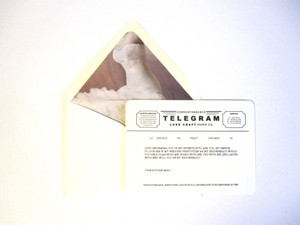 Cream Luxe Craft Paper Co. Will You Be My Bridesmaid Telegram Card