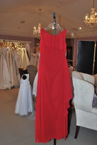 Bill Levkoff Cranberry Red Red Junior Attendant Dress Dress