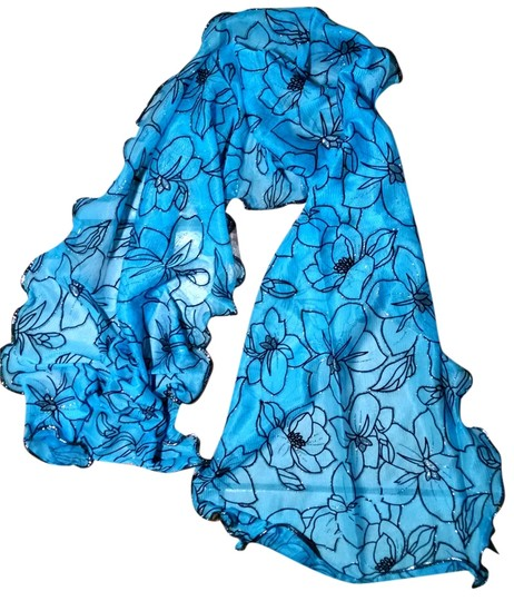 Preload https://item4.tradesy.com/images/blue-black-new-long-floral-p1577-scarfwrap-5219503-0-0.jpg?width=440&height=440
