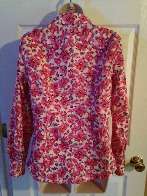 Lands' End Top Pink Floral