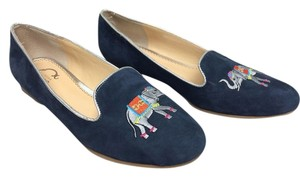 C. Wonder Embroidered Loafers Elephant Navy Flats