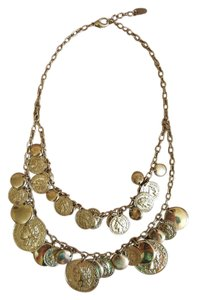 Roman Coins Two Chain Necklace