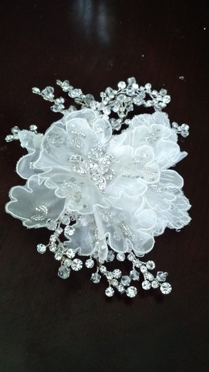 Flower Lace Crystal Bridal Hair Accessory