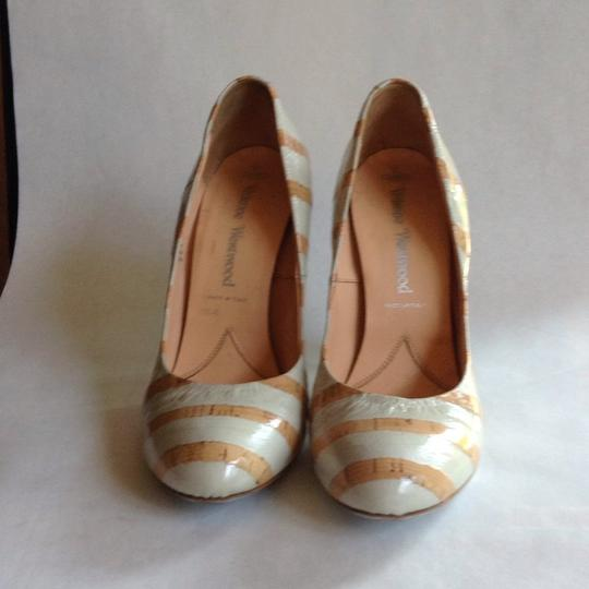 Vivienne Westwood Baby blue and tan Pumps