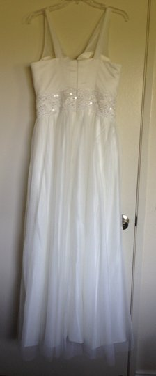 Vintage Style V-neck A-line Tulle And Satin Wedding Dress