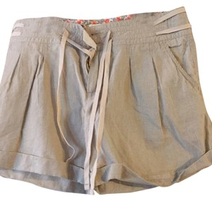 Banana Republic Mini/Short Shorts Olive pin stripe