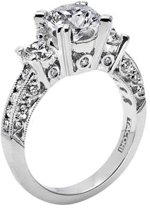 Tacori Tacori 18kt White Gold Semi Mount Engagement Ring size 6.5 # HT 2326