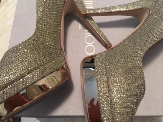 Jimmy Choo Wedding Gold Platforms