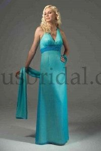 Venus Bridal Hot Turquoise / Ice Yellow Bella Maids D533 Dress