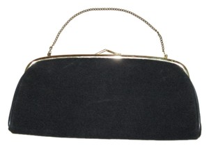 HL Vintage Cloth Evening Black Clutch