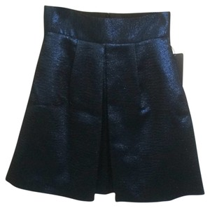 Zara Mini Skirt Metallic dark blue