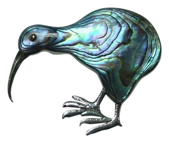 Other LOVELY VINTAGE SILVER & STRIKING ABALONE BIRD PIN BROOCH