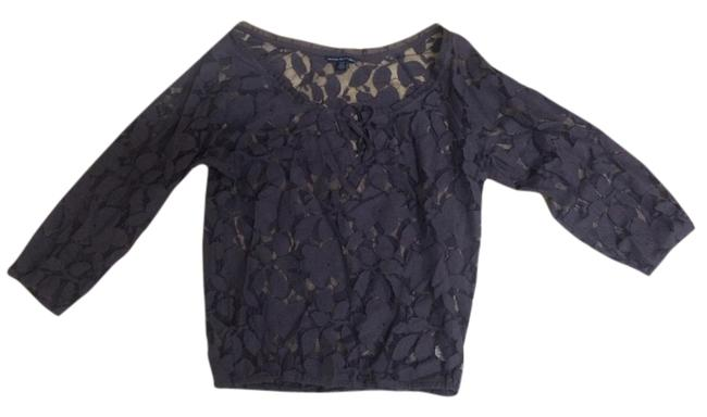 American Eagle Outfitters Lace Tie Casual Top Purple