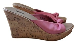 Mossimo Supply Co. Sole Cork with Pink Leather Mules