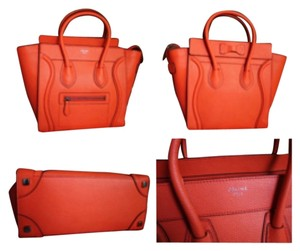 Céline Satchel in Orange