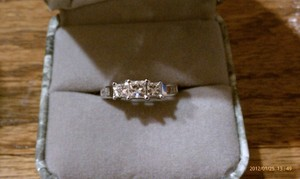 .99twt 14kw 3 Stone Princess Engagement Ring