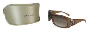 Giorgio Armani Glam Wrap - Opal Brown & Metal Logo Sunglasses