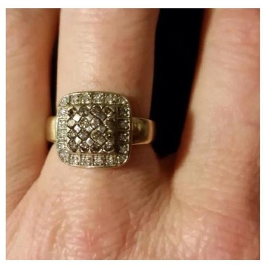 14 k Clear and Chocolate/Champagne Diamond ring! 14 K DIAMOND RING