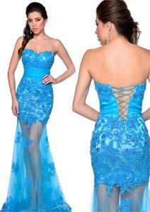 Milano Formals Lace Sweetheart Sweet Sixteen Prom Dress