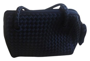 Bottega Veneta black satin vintage Clutch