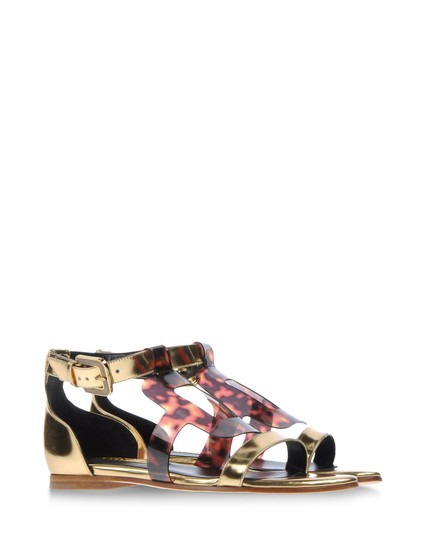 Rupert Sanderson Tortoise Shell Gold/Brown Sandals