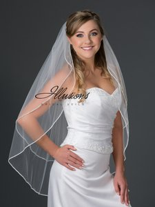 Illusions Bridal Rhinestone Edge 2-layer Veil