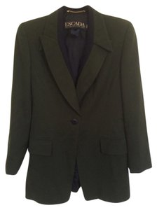 Escada Khaki green and black Blazer