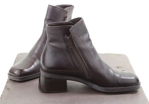 Nine West Ankle Double Zippers Coffee Brown Boots