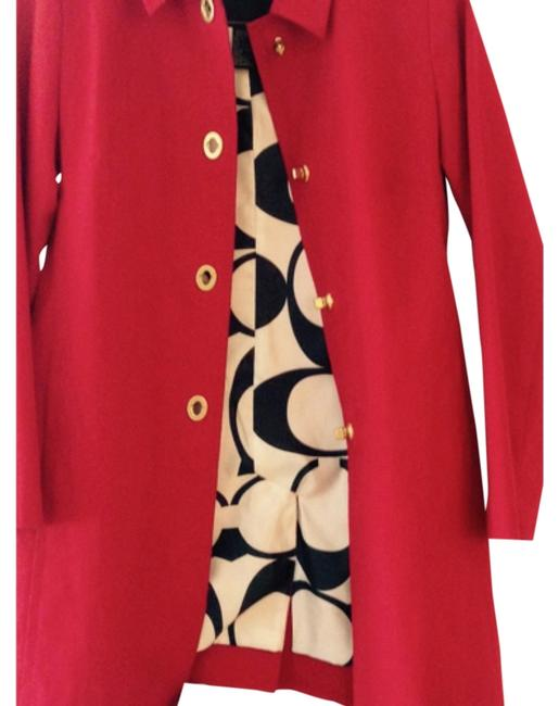 Item - Red Trench Logo Interior Coat Size 2 (XS)