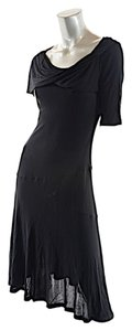 Drozdzik short dress Black A-line Drape Neck on Tradesy