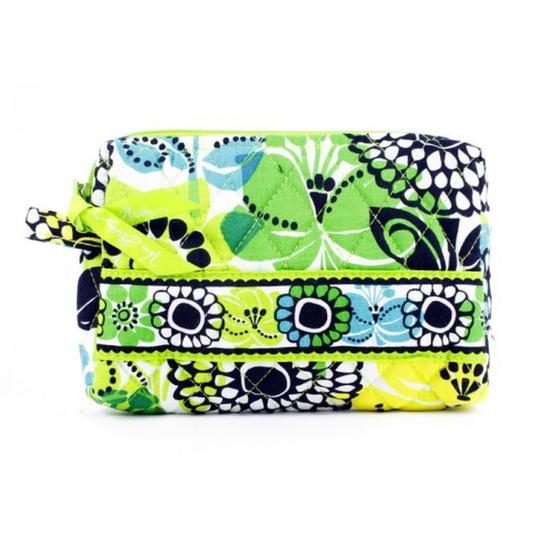 Vera Bradley Grand Cosmetic Set Tote in Lime's Up