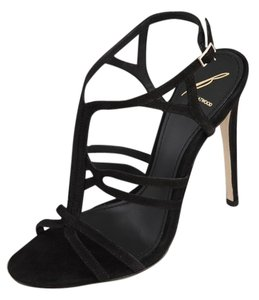 B Brian Atwood Suede Black Sandals