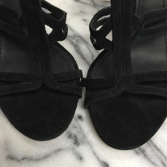 Brian Atwood Suede Black Sandals