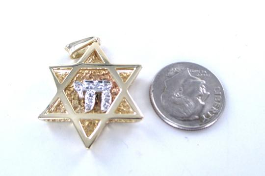 Other 14KT YELLOW GOLD PENDANT STAR OF DAVID JEWISH DIAMOND ISRAEL 6.2 gram CHARM CHAI