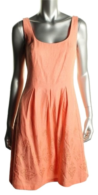 Preload https://item1.tradesy.com/images/nine-west-orangecoral-fit-and-flare-pleated-summer-short-workoffice-dress-size-6-s-5223370-0-0.jpg?width=400&height=650