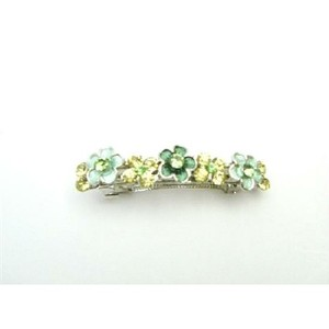 Green Jonquil Crystals Flower Hair Ornament Barrett