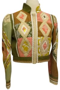 Nanette Lepore Embroidered Cropped multi Jacket