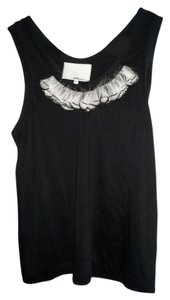 3.1 Phillip Lim Top Black with white feathers
