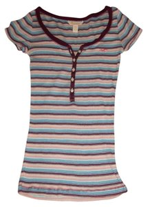 Hollister T Shirt purple, pink, blue