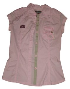Fox Button Down Shirt Pink