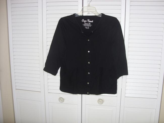 Onque Woman ONQUE Jewel Snap Closure Button Down Shirt BLACK