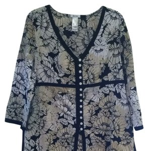 Liz & Co. Shirt Blouse Floral Tunic