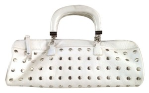 BCBGeneration Leather Satchel in White